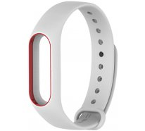 Ремешок UWatch Double Color Replacement Silicone Band For Xiaomi Mi 2 White/Red Line