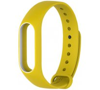 Ремешок UWatch Double Color Replacement Silicone Band For Xiaomi Mi 2 Yellow/White Line