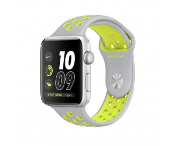 Смарт-часы Apple Watch Nike+ 38mm Silver Case with Flat Silver/Volt Nike Sport Band (MNYP2)