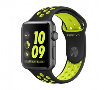 Смарт-часы Apple Watch Nike+ 38mm Space Grey Aluminum Case with Black/Volt Nike Sport Band (MP082)