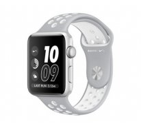 Смарт-часы Apple Watch Nike+ 42mm Silver Aluminum Case with Silver/White Nike Sport Band (MNNT2)