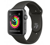 Смарт-часы Apple Watch Series 3 GPS 42mm Space Gray Aluminum w. Black Sport B. - Space Gray (MQL12)