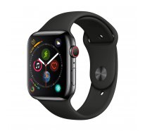 Apple Watch Series 4 (GPS) 44mm Space Gray Aluminum w. Black Sport Band
