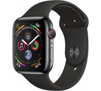 Apple Watch Series 4 (GPS+Cellular) 44mm Space Black Stainless Steel Case With Black Sport Band