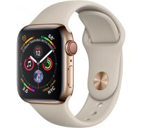 Apple Watch Series 4 (GPS+Cellular) 40mm Gold Stainless Steel Case With Stone Sport Band