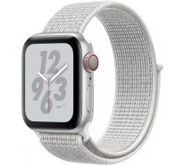 Apple Watch Series 4 Nike+ (GPS + Cellular) 40mm Silver Aluminum Case with Summit White Nike Sport Loop