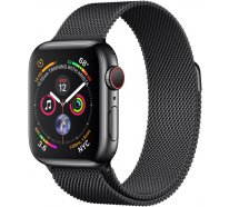 Apple Watch Series 4 (GPS+Cellular) 40mm Space Black Stainless Steel Case With Black Milanese Loop