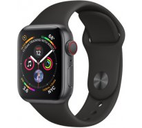 Смарт-часы Apple Watch Series 4 GPS + Cellular 40mm Space Gray Aluminum Case with Black Sport Band (MTUG2)