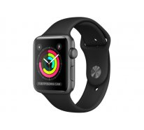 Смарт-часы Apple Watch Series 3 42mm GPS Space Gray Aluminum Case with Black Sport Band (MTF32)