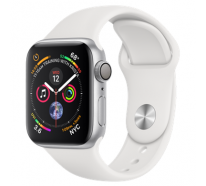 Смарт-часы Apple Watch Series 4 GPS + LTE 44mm Aluminum Case w. White Sport B. (MTUU2)