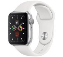 Смарт-часы Apple Watch Series 5 GPS 44mm Silver Aluminum w. White b.- (MWVD2)