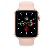 Смарт-часы Apple Watch Series 5 GPS 44mm Gold Aluminum w. Pink Sand b.- (MWVE2)