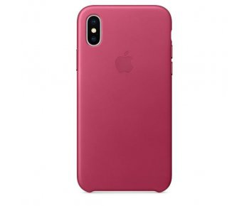 Чехол Apple iPhone X Leather Case Pink Fuchsia (MQTJ2)