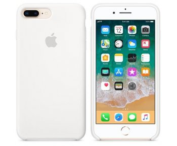 Чехол Apple iPhone 8 Plus Silicone Case White (MQGX2)