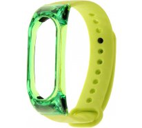 Ремешок UWatch Silicon Carbon Fiber Crystal PC Frame Replacement Wrist Band For Mi Band 2 Yellow