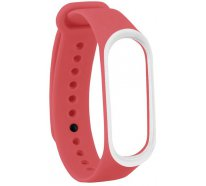 Ремешок UWatch Double Color Replacement Silicone Band For Xiaomi Mi Band 3 Red/White Line