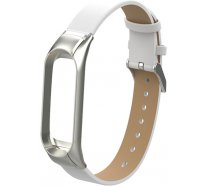 Ремешок UWatch PU leather Band For Miband 3 White