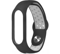 Ремешок UWatch Double Color nike silicone for Mi Band 3 Black/Grey