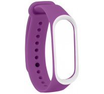 Ремешок UWatch Double Color Replacement Silicone Band For Xiaomi Mi Band 3 Purple/White Line