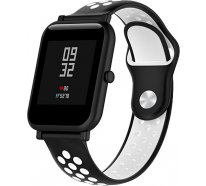 Ремешок UWatch Silicone Double color strap for Amazfit Bip Black/White
