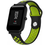 Ремешок UWatch Silicone Double color strap for Amazfit Bip Black/Green
