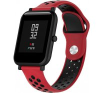 Ремешок UWatch Silicone Double color strap for Amazfit Bip Red/Black