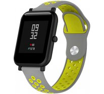 Ремешок UWatch Silicone Double color strap for Amazfit Bip Grey/Yellow