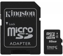 Карта памяти Kingston microSDHC class 4 SD adapter 16Gb