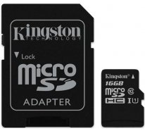 Карта памяти Kingston microSDHC/microSDXC class 10 UHS-I SD adapter 16Gb
