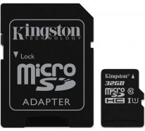 Карта памяти Kingston microSDHC/microSDXC class 10 UHS-I SD adapter 32Gb